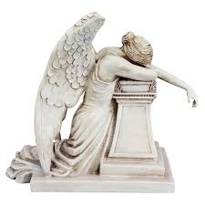 Angel Sculptures Amazon Com Design Toscano Angel Of Grief Monument Statue Home