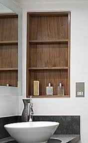 Shelving For Bathrooms White Bathroom With Recessed Shelving Home Pinterest False
