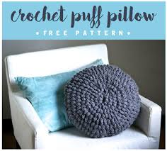 Free Cushion Crochet Patterns Diy Crochet Circle Puff Pillow Pattern Six Clever Sisters