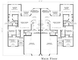 house plans on line duplex plan chp 21282 at coolhouseplans