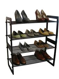 Aldi Shoe Cabinet Furniture Cool Black Stackable Shoe Rack With Iron Material And
