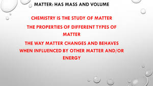 introduction to matter ppt video online download