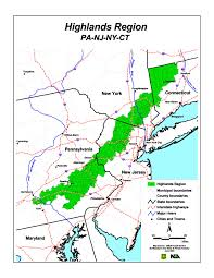 Map Of New Jersey And Pennsylvania by The Highlands Of Connecticut New Jersey New York And Pennsylvania