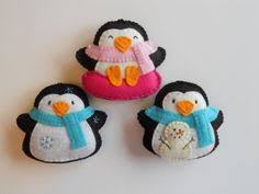 Felt Penguin Christmas Ornament Patterns - pdf pattern penguin felt pattern felt penguin sewing pattern