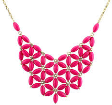 pink chain necklace images Chunky cluster party statement necklace hot pink jpg