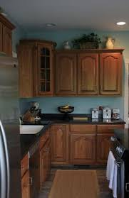kitchen paint ideas with oak cabinets remodelling your your small home design with awesome blue