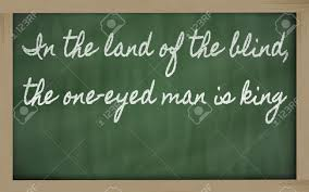 King Of The Blind Handwriting Blackboard Writings In The Land Of The Blind The