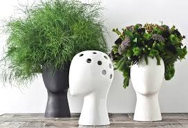 Creative Flower Vases Wig Head Vase