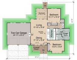 floor plans for cottages hip cottage with attached garage 1545 sf southern cottages