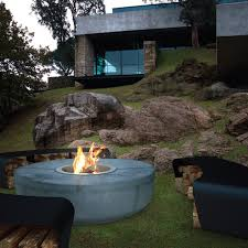 concrete patio furniture fireplace u2014 home ideas collection