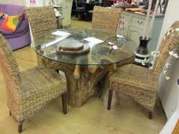 teak root dining table base teak root wood saturday kitchen style dining table and glass top