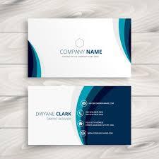 visitenkarten design kostenlos blaue welle visitenkarte design kostenlose vektoren business