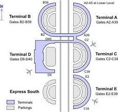 Charlotte Airport Gate Map Dallas Airport Map Us Airways American Mia Hub Terminal Map