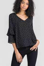black polka dot blouse bio polka dot blouse from naples by bio york shoptiques