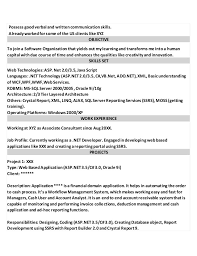 Asp Net Developer Resume The Best Resume Samples For Chief Executive Officer Ceo