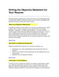 Ideas To Put On A Resume Cv Objective Statement Example Resumecvexample Com Objectives To