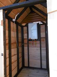 Outdoor Shower Cubicle - outdoor shower hut for glamping
