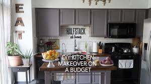 halfstack at home diy kitchen makeover on a budget youtube