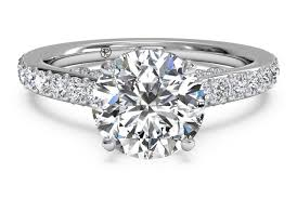 engagement bands rings images Round cut french set diamond band engagement ring in platinum 0 45 ctw PNG