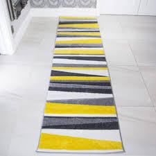 Yellow And Grey Runner Rug Shining Yellow Runner Rug Fetching Modern Grey Striped