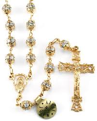 gold rosary gold plated sterling silver rosary with swarovski rhinestone
