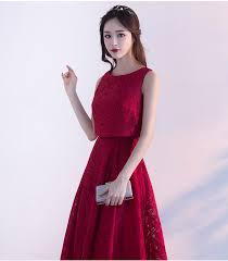 burgundy dress for wedding guest vestidos de madrinha2017 new lace a line 2 burgundy