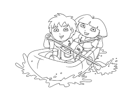 dora diego coloring pages coloring