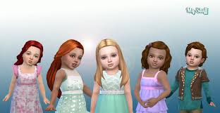 childs hairstyles sims 4 my stuff toddlers hair pack 13