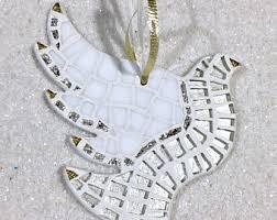 white dove ornament etsy