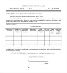 sample equipment lease agreement template 8 free documents in pdf