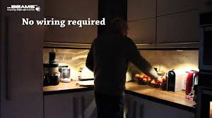 Battery Operated Under Cabinet Lighting Kitchen by Mr Beams Under Cabinet Lighting Youtube