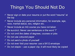 What Not To Put On A Resume Resume Writing For Teachers
