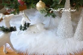 faux fur tree skirt 30 white mongolian faux fur tree skirt custom made usa