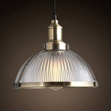 Dome Pendant Light Lovable Ceiling Light Pendant Industrial Prismatic Ribbed Glass