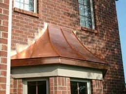 Best Way To Clean Awnings Copper Bay Window Roofs Copper Roofing Copper Awnings