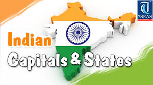 Map Of States With Capitals by Capital And States In India Animated Video Tour The States