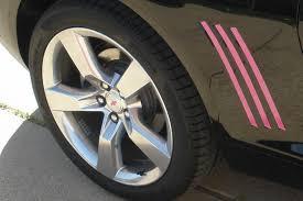 black camaro with pink stripes 2010 to 2015 camaro gills