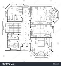 black white architectural plan house layout stock vector 591781508 black and white architectural plan of a house layout in top view of the apartment