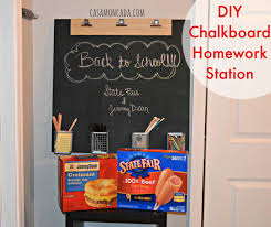 casa moncada diy chalkboard homework station
