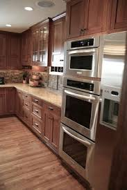 Kitchen Design Cherry Cabinets by Kitchen Remodel By Renovisions Induction Cooktop Stainless Steel
