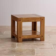rustic oak coffee table quercus side table rustic solid oak oak furniture land