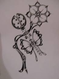 Ladybug And Flower Tattoos - ladybug tattoo art and designs page 26
