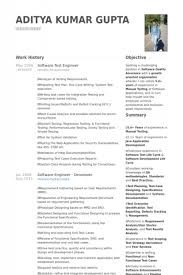 Manual Testing Sample Resumes by Manual Testing Experienced Resume Software Bug Roles And