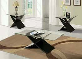 elegant black coffee table sets for living room with regard to