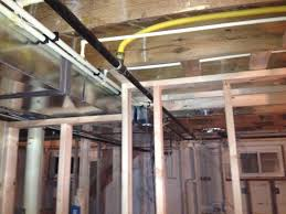 basement my auction house rehab here you can see the ductwork water lines and gas line that s run through