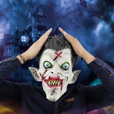 buy best latex scary zombie mask horror masks with hair cap for