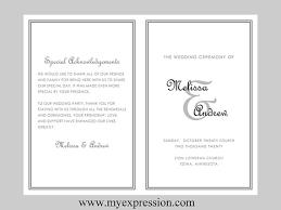 bi fold wedding program template diy wedding program template bifold monogram initial with