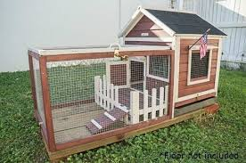 outdoor indoor rabbit cage hutch pet lodge bunny wire fence small
