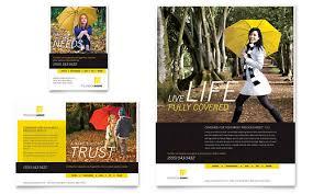 insurance agent brochure template design