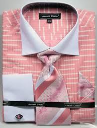 big man size dress shirt tie sets